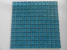 Mosaico su rete in vetro marengo glossy lucido foglio 30x30