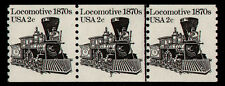 United States, Scott # 1897A, Mnh Strip Of 3 Coil Stamps Pnc # 3 Locomotive, Mnh