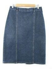 Wallis size 12 straight denim skirt blue.panels back split smart casual