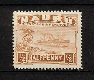 ✔️ (YYBD 011) Nauru 1947 MLH Mich 15c Scott 17 Ship