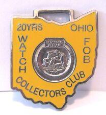 Bucyrus Erie Track Excavator 20 Yrs Ohio Watch Fob Collectors Club OWFCC Enamel