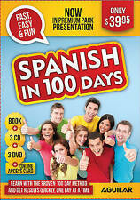 Spanish in 100 Days - Premium Pack (book, 3 CDs, 3 DVDs and Internet Access Card
