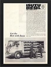 """1963 ISUZU ELF DIESEL TRUCK AD A3 FRAMED PHOTOGRAPHIC PRINT 15.7""""x11.8"""""""