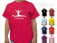 PERSONALISED GYMNASTICS GYMNAST D2 BOYS GIRLS T-SHIRT TSHIRT KIDS CHILDRENS
