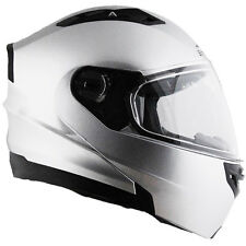 Vega Vertice Modular Flip Up Motorcycle Helmet Silver Adult Sizes