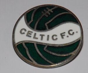 VINTAGE GLASGOW CELTIC ENAMEL BADGE PIN FOOTBALL CLUB OLD GREEN BRIGADE RARE