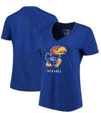 adidas Kansas Jayhawks Women's Royal Her Full Color Primary Tri-Blend V-Neck