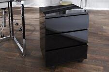 Contenedor Rodante Negro Alto Brillo oficina diseño Gabinete con cajones NUEVO