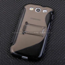 Cell Phone Case for Galaxy S3 Matte Shockproof Slim Hard TPU Stand Cover