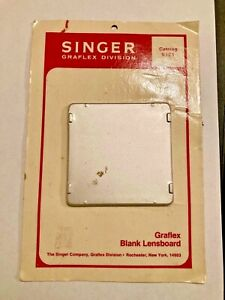 Graflex Singer Graflex 9181 NEW OLD STOCK Graflex Blank Lens Board NEW SEALED