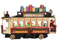 Lemax Christmas Village Santa's Cable Car Train Tracks Lights & Sounds 54960