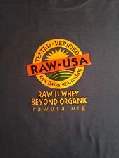 T-Shirt - RAW & ORGANIC YEA! 'Organic Pastures RAW-USA, Raw Dairy Standards - XL