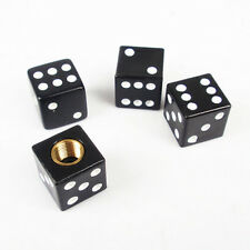 4pcs Black Dice Car Truck Bike Tire air Valve Stem Caps Wheel Rims Hotsale TB
