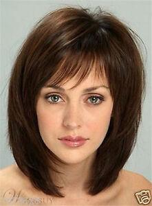 NEWJF948 short brown charm straight health hair wigs for women's hair wig