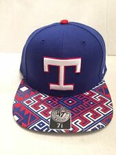 2948b7217 Texas Rangers 47 Brand MLB COOP Moroc Fitted Hat Size 7 1 8 Blue