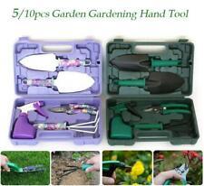 10 Pcs Heavy Duty Garden Tools Kit Trowel Pruner Rake Transplanter Cultivator