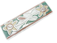 50 Stück Badbordüre (0,95 Euro/Stück) Fliesen Bordüren BLN442 grün braun 20x6cm
