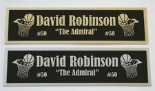 David Robinson Spurs nameplate for signed basketball photo jersey or case