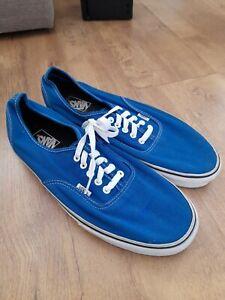 Mens vans size UK 12 Blue Canvas trainers shoes
