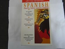 Spanish Language Course 2 Cassettes Conversation Manual & Dictionary USED LIKE N