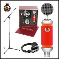 Blue Spark Studio Condenser Microphone with Stand Pioneer HDJ500 Case & Mount