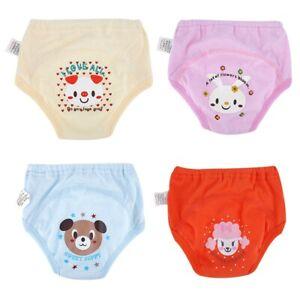 4Pcs Anti Leakage Baby Cartoon Training Pants 4 Layers Waterproof Toddler Diaper
