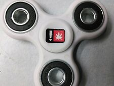 Medical Marijuana sticker White Fidget Spinner USA 1 Day Ship In Stock Unique !!