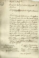Regno d'Italia Napoleone Re d'Italia - Comune di Migliaro 1809