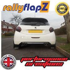 Mud Flaps PEUGEOT 208 GTi (2011 on) rallyflapZ Mudflaps 4mm PVC Black Logo White