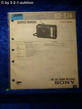 Sony Service Manual ICF S74 2 Band Receiver (#3080)