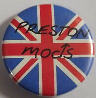 PRESTON MODS - Union Jack Old OG Vtg 1980`s Button Pin Badge 25mm