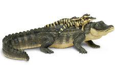 "Alligator Mama w/3 Babies # 259629 12"" Replica ~ FREE SHIP-USA,$25+ Safari, Ltd."