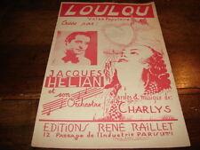 JACQUES HELIAN - Partition LOULOU !!!!!!!!!!!!!!
