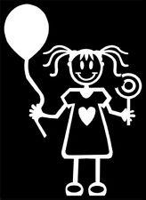 MY STICK FIGURE FAMILY Car Window Stickers SG5 Small Girl Balloon & Lollipop