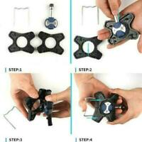 1 Pair ABS Bicycle Pedals Flat Bracket Converter For Speed Pedals play E6Y4
