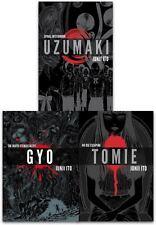 Junji Ito Collection 3 Books Set Pack Deluxe Edition UZUMAKI Hardback NEW Book