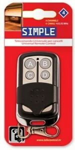 Superior Fixed Code 4-Button Remote Control KeyFob for Garage / Gate / Barrier