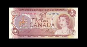 "1974 BANK OF CANADA QEII $2 **Consecutive 2 of 2** ""BG"" (( GEM UNC ))"