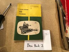 JOHN DEERE Combine 65 Original OPERATORS MANUAL Farm Farming