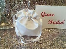 WHITE SATIN DOLLY BAG IDEAL FOR HOLY COMMUNION OR BRIDESMAID **free swatches**