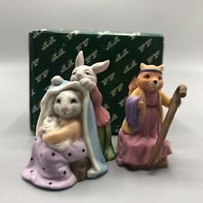 Fitz & Floyd Enchanted Forest Holiday Hamlet Blessed Mother Bunny Squirrel