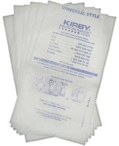 6 KIRBY HEPA VACUUM BAGS AVALIR SENTRIA G3 G4 G5 G6 MICRON MAGIC ALLERGEN