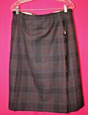 Fletcher Jones Australia Modern Tartan Plaid All Round Pleated Kilt Women's