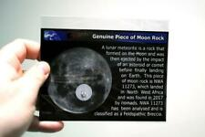 **Genuine Piece of Moon Rock** NWA 11273 Lunar Meteorite fragment on Infocard