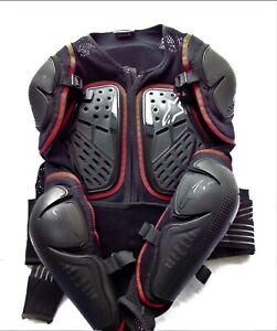 "Men's XL (42-44"") BlackAlpine Stars Bionic Motorcycle Jacket w/ Body Armor,"