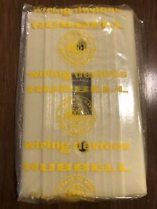 25 New Art Deco Vintage NOS Mid Century HUBBELL Ivory BAKELITE Switch Plates MCM