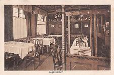 Plauen Vogtland Jagdzimmer, Gasthaus, Hutznstub Postkarte 1926