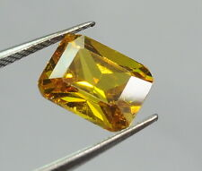 7.80 CT YELLOW CUBIC ZIRCONIA VS CLARITY LOOSE GEMSTONE CUSHION CUT FOR RING