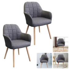 2er/set Esszimmerstühle Grau Konferenzstuhl Retro Design Küchenstuhl Stuhlgruppe