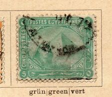 Egypt 1879 Early Issue Fine Used 5p. NW-09728